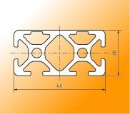 Profil en aluminium rectangulaire