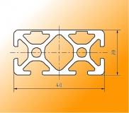 Aluminiumprofil rechteckig