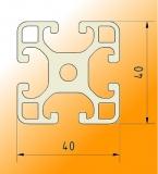 Aluprofil 40x40L I-Typ Nut 8 Standardlängen