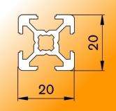 Perfil de aluminio cuadrado
