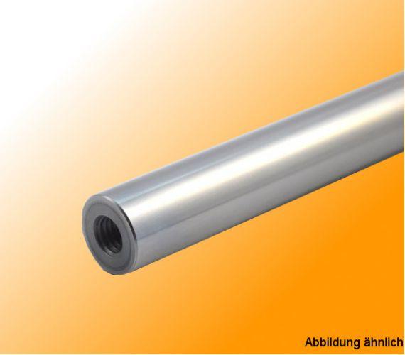 Gewindebohrungen M8x25 Präzisionswelle 16mm h6 geschliffen gehärtet 400mm