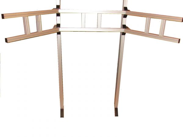 kpcr triple screen halterung bis 29 zoll monitore. Black Bedroom Furniture Sets. Home Design Ideas