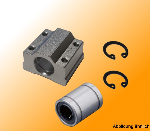 Linear bearing with housing and suitable bearings (Igus)